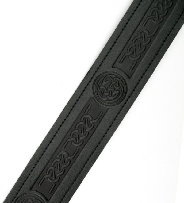 Celtic Embossed Kilt Belt adjustable