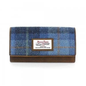Harris Tweed Castlebay Blue Large Purse