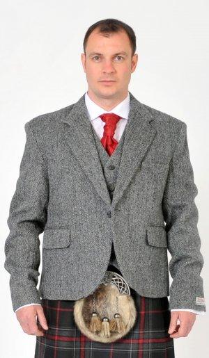 ** CHRISTMAS SALE ** Harris Tweed Day Kilt Jacket Set