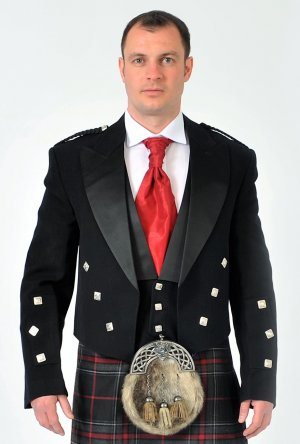 ** CHRISTMAS SALE ** Prince Charlie Medium Weight Kilt Jacket & Vest